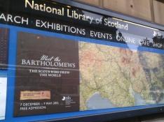 Bartholomew's Exhibition Poster AGI Scotland visit