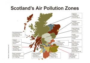 Scotland Air Pollution Zones 20